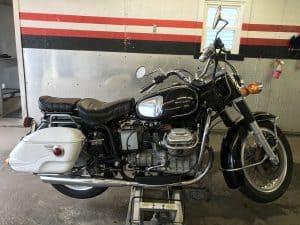 moto guzzi motorcycle detailed