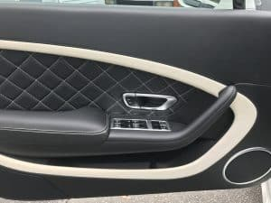 detailed driver side door of Bentley