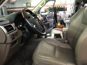 detailed lexus interior