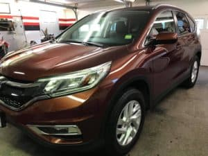 red honda crv detailed exterior