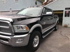 ram 2500 black exterior detailed