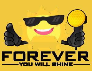 sun graphic holding a buffer